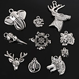 Beadia Antique Silver Metal Charm Pendants Dragon Tiger Wolf  Deer Elephant  Head Shape DIY Jewelry Pendant