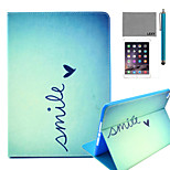 LEXY® Cute Heart Pattern PU Leather Flip Stand Case with Screen Protector and Stylus for iPad Mini 4