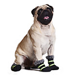 Warm Fleecing Lining Boots with Reflective Strap Winter Shoes for Dogs (Assorted Sizes)