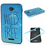 2-in-1 Dandelion Wild Free Phrase Pattern TPU Back Cover + PC Bumper Shockproof Soft Case For Sony E4