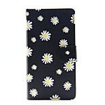 Black Daisy PU Leather Full Body Case with Stand for Huawei Ascend P8 Lite