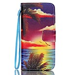 Red Cloud Pattern PU Material Card Lanyard Case for iPhone 6 Plus/6S Plus