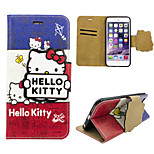 iphone 6 PU leather cover Disney Hello Kitty with a free Headfore HD Screen Protector for iPhone 6 (4.7in)