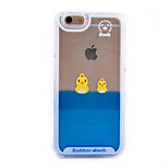 Three-Dimensional Crown Duck Pattern Transparent PC Material Phone Case for iPhone 6 /6S