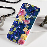 Blue Light Diamond Shape Soft TPU Back Cover Case for iPhone 5/5S