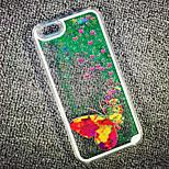 Velley maycari® di farfalle di sabbia glitter bling sabbie mobili stella del modello del pc trasparente posteriore Case for iPhone 6 6s /
