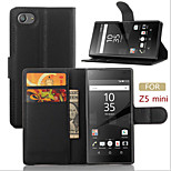 The Embossed Card Flip Bracket Protective Cover For SONY Z5 Mini Mobile Phone