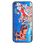 Christmas Style Santa in Sky Pattern PC Hard Back Cover for iPhone 5/5S