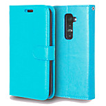 PU Leather + TPU Back Cover Wallet Case Flip Cover Photo Frame Case for LG G2