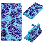 Blue Flower  Pattern PU Leather Case for Nokia Lumia 630