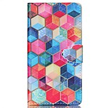Hexagon Pattern PU Leather Phone Case For Sony M4