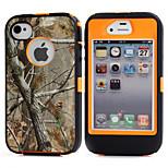 3in1 hybride camouflage camo arbre impression dirtproof dur intégré en cas de protecteur d'écran pour iPhone 4 4s