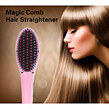 2015 ferros de alisamento profissional com pente de cabelo elétrico display LCD alisamento escova pente