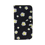 Chrysanthemum Pattern PU Leather Full Body Case with Card Slot and Stand for iPhone 5/5S