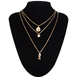 LOVE Pendant Multilayer Three Chain Necklace