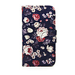 Printed Colorful Rose PU Leather Wallet Full Body Case with Stand for Nokia Lumia 630/635