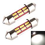 Yobo 3w 240lm festone 31 millimetri 6 * 4014 manica tubo di luce bianca per lampadina dell'automobile sterzo / lampada di lettura (2 pc /