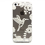 Birds Pattern TPU Relief Back Cover Case for iPhone 5/iPhone 5S