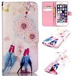 Beautiful Bells Pattern Relief  PU Leather Wallet Case with Stand and Card Holder for iphone 6plus/6Splus