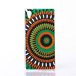 colorido patrón de flor TPU caso suave para Sony m4