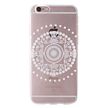 White Lotus Style Transparent Soft TPU Back Cover for iPhone 6/6S 4.7