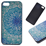 Blue Flower Pattern Hard Back Case for iPhone 5/5S