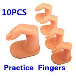 10PCS Plastic Fake Fingers Model Practice Training Nail Art False Tips Display Tool High Qulity