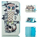 Owl  Design PU Full Body Case with Stand with Card Slot for iPhone 5/5S