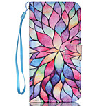Multicolored Petals Pattern PU Leather Phone Case For iPhone 5/5S