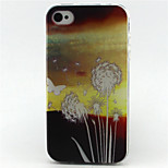 Dandelion Love Painting Pattern TPU Soft Case for iPhone 4/4S