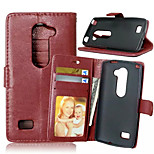 High Quality PU leather Wallet Mobile Phone Holster Case For LG Leon(Assorted Color)