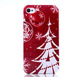 navidad uv árbol barniz pc caja del teléfono navidad material para el iphone 4 / 4s