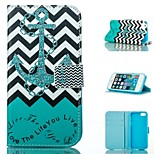 Anchor Design PU Full Body Case with Stand with Card Slot for iPhone 5/5S