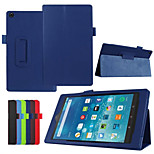 Dengpin PU Leather Litchi Texture with Stand Cover Case Skin for Amazon 2015 kindle fire HD 8 (Assorted Colors)