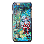 Christmas Style Santa in Forest Pattern PC Hard Back Cover for iPhone 6