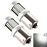 YOBO 1156 30*4014 High Performance LED White Light Bulb for Car Brake Lamp (2 PCS/DC 12-24V)