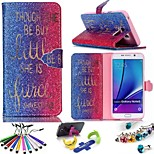 Geometric Pattern PU Leather Phone Holster Includes Stand Anti-dust Plug stylus, for Samsung Galaxy Note 5
