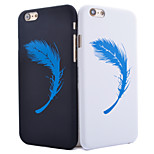 Feather Pattern Smooth Surface PC Hard Back Cover Case for iPhone 6/6S(Assorted Colors)