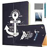 lexy® Segel Tagebuch Muster PU-Leder Flip-Standplatzfall mit Displayschutzfolie und Schreibkopf für ipad Luft 2 / ipad 6