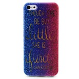 Sand Pattern TPU Material Hemming Soft Phone Case for iPhone 5C