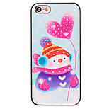 Christmas Style Snowman Heart-shaped Balloon Pattern PC Hard Back Cover for iPhone 5/5S