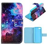 Sternenhimmel-Entwurf PU-Ganzkörper-Fall mit Stand mit Einbauschlitz für iphone 5c