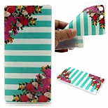 Striped Flower Words Phrase Pattern 0.6mm Ultra-Thin Soft Case for Sony M5