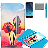 LEXY® Split type Sunset Dandelion Pattern PU Full Body Leather Case with Screen Protector and Stylus for iPhone 6/6S