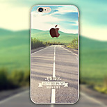 Scenery Road Pattern TPU Material Phone Case for iPhone 6/6S