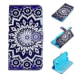 Sun Flower Design PU Leather Full Body Case with Stand and Card Slot for Nokia Lumia N730