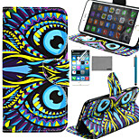 LEXY® Owl Tribal Pattern PU Full Body Leather Case with Screen Protector and Stylus for iPhone 6/6S