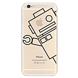 Robot Pattern TPU Material Phone Case for iPhone 6/6S