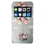 Flying in the air house pattern TPU+PU Flip window shell Case For iPhone6/6s