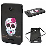 2-in-1 Cute Rose Owl Pattern TPU Back Cover + PC Bumper Shockproof Soft Case For Sony E4